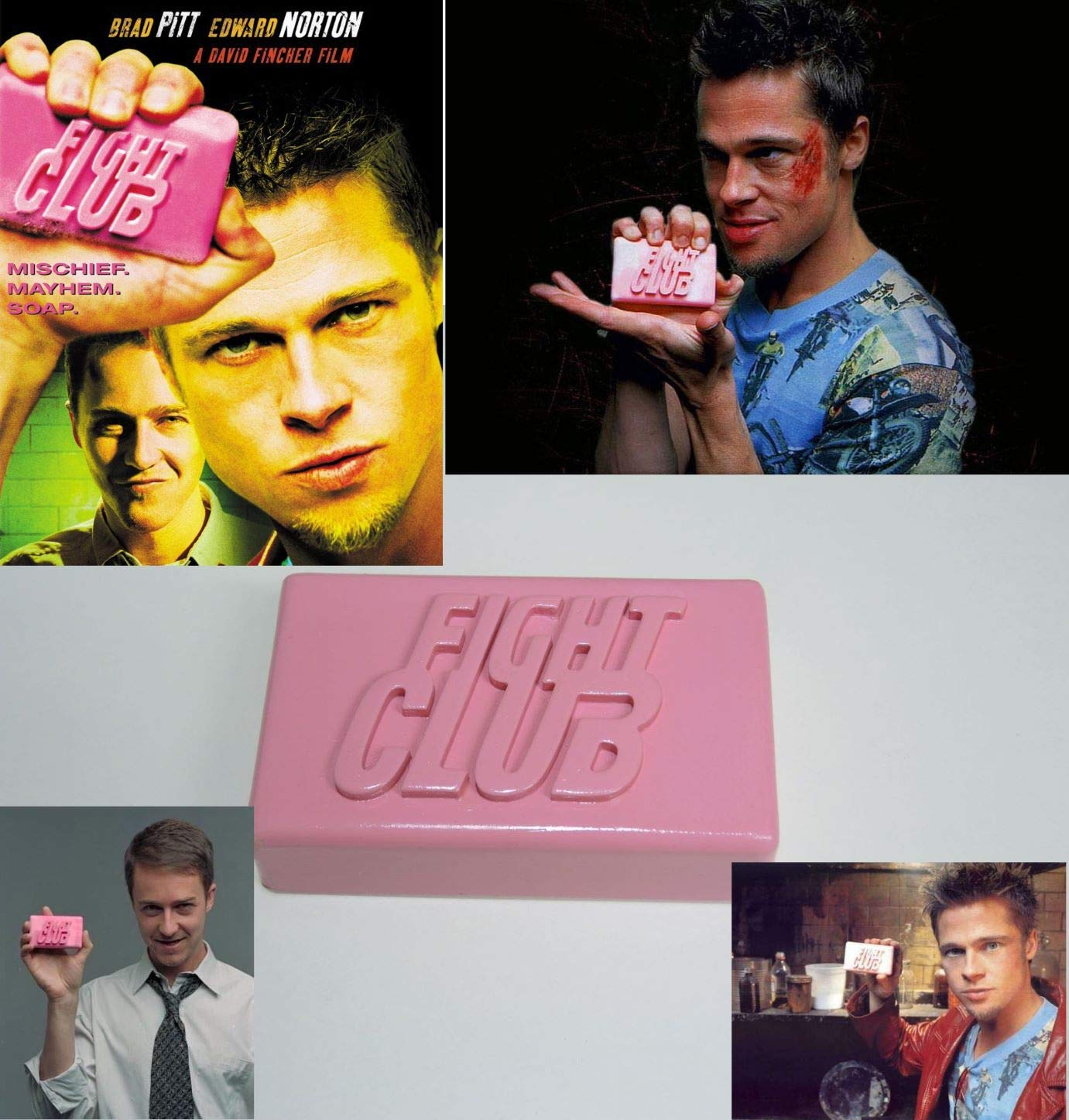 9c7af4c8b8fd8 Amazon.com: LaRetrotienda 👉 FIGHT CLUB film prop replica soap ...