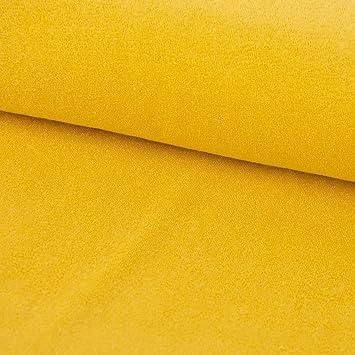 Stretch-Frottee Frotteestoff Baby-Stoff gelb 1,50m Breite