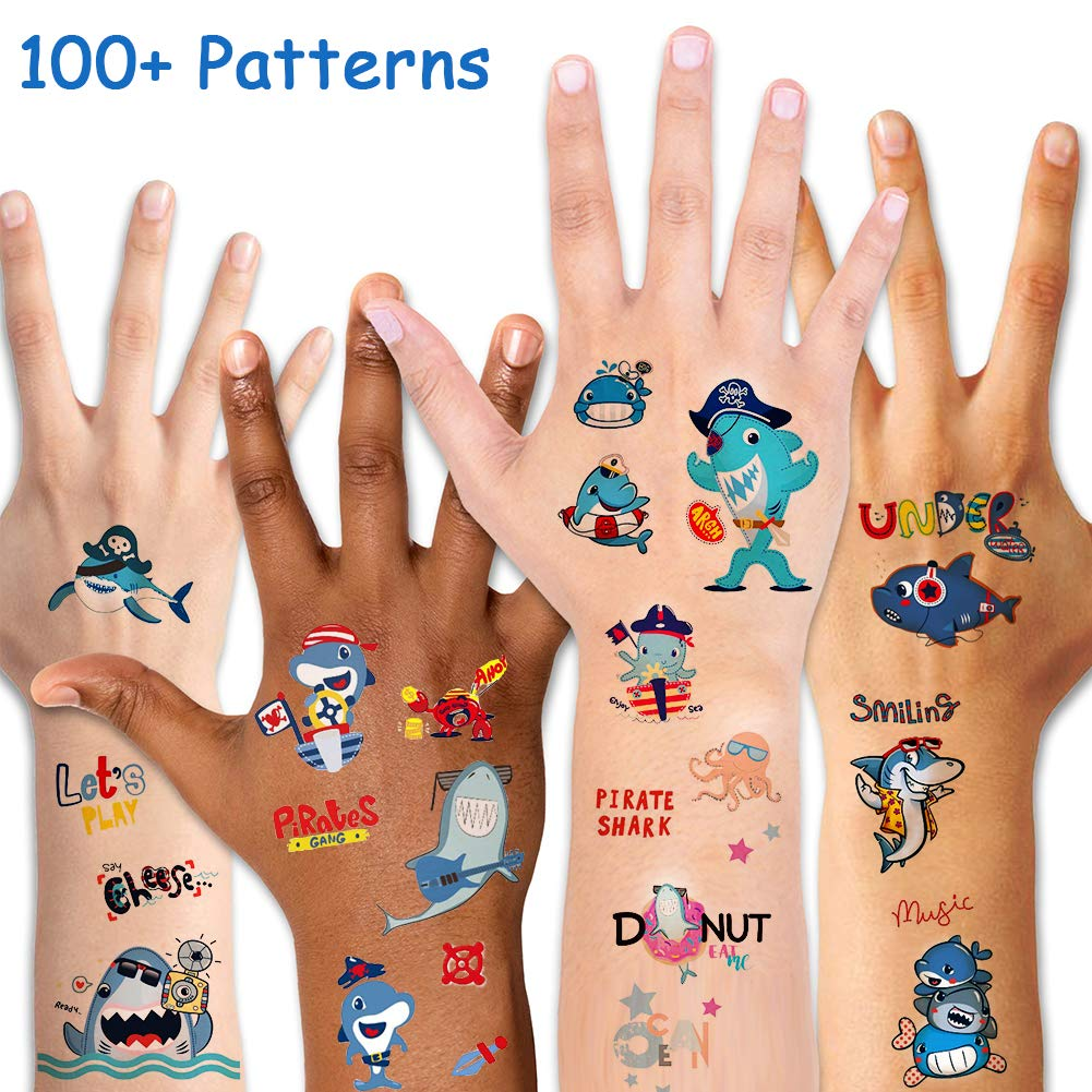 AsterTatuajes temporales para niños, impermeables, tatuajes para ...