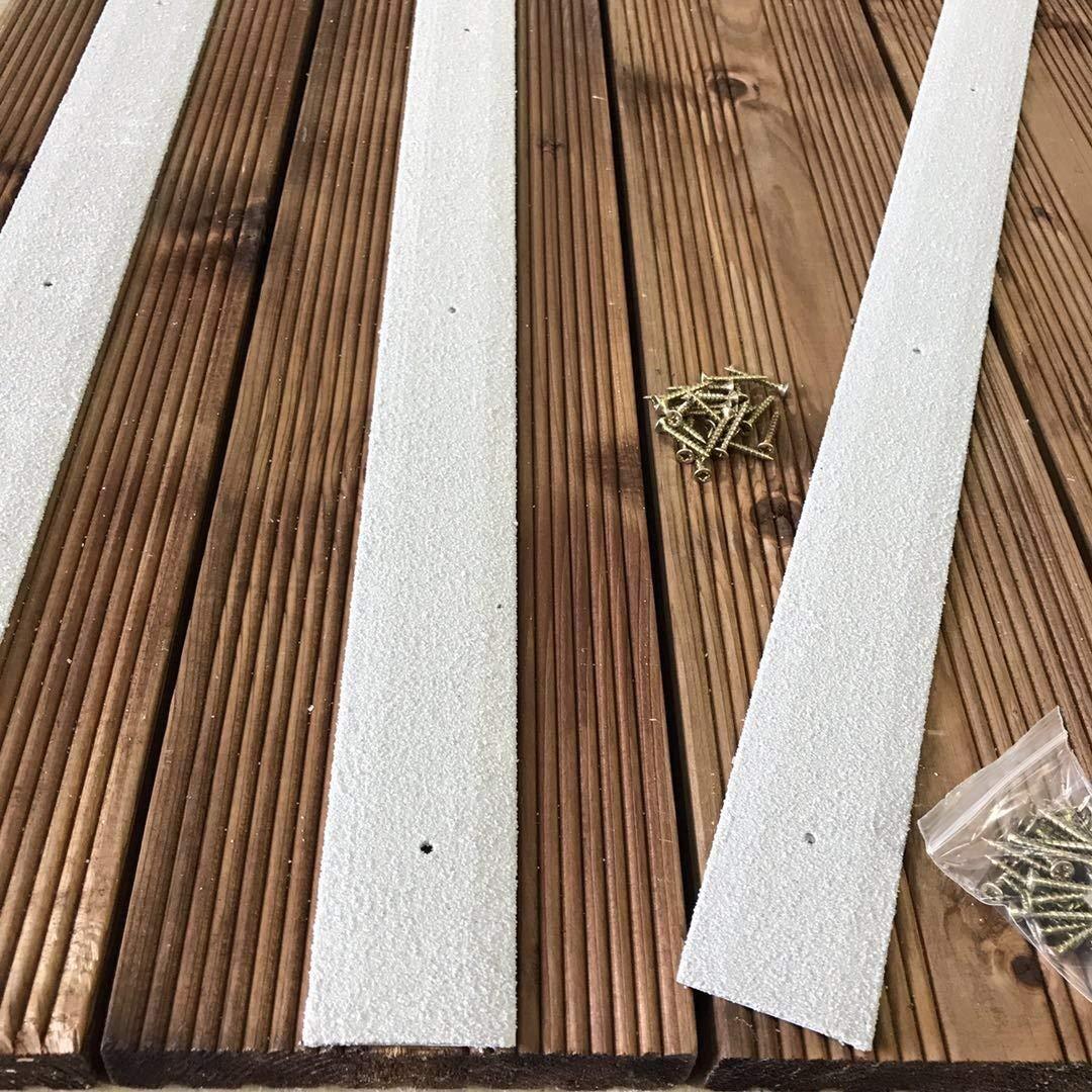 Lot de 20/bandes de terrasse en bois antid/érapante pour terrasse Bande 50/mm x 600/mm Marron Vert Beige Noir Gris Jaune marron