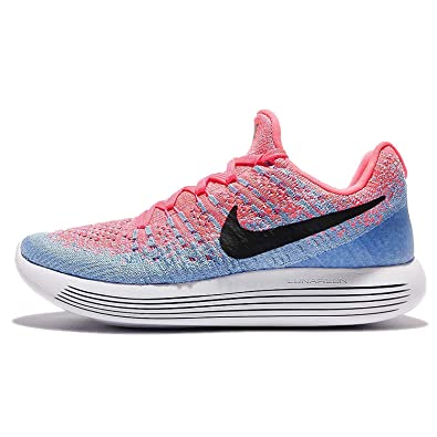9353b14311a4 Nike Women Lunarepic Low Flyknit 2 Running hot Punch Black-Aluminum-University  Blue Size 7. 5 US  Amazon.in  Shoes   Handbags
