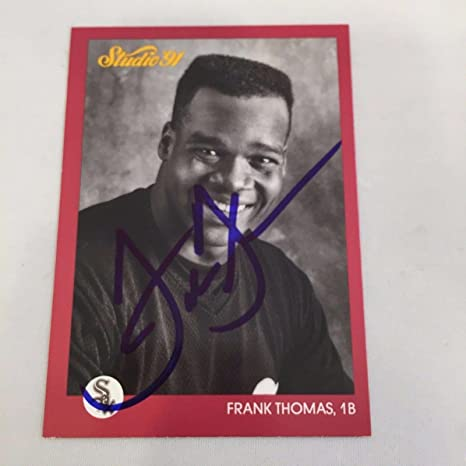 1991 Leaf Studio Frank Thomas Rc Signed Autographed Rookie Baseball