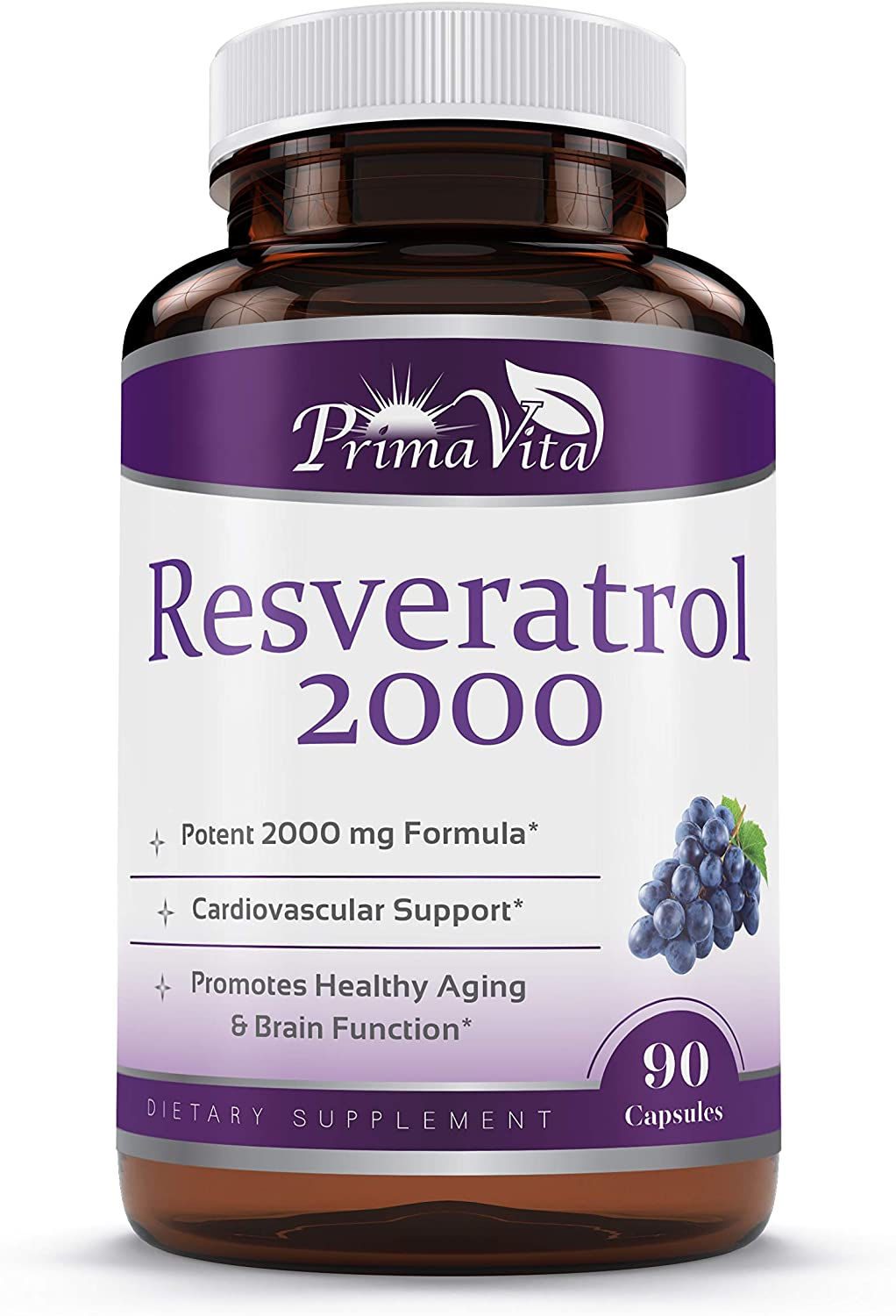 Amazon Com High Purity Resveratrol 2000mg Maximum Strength 98