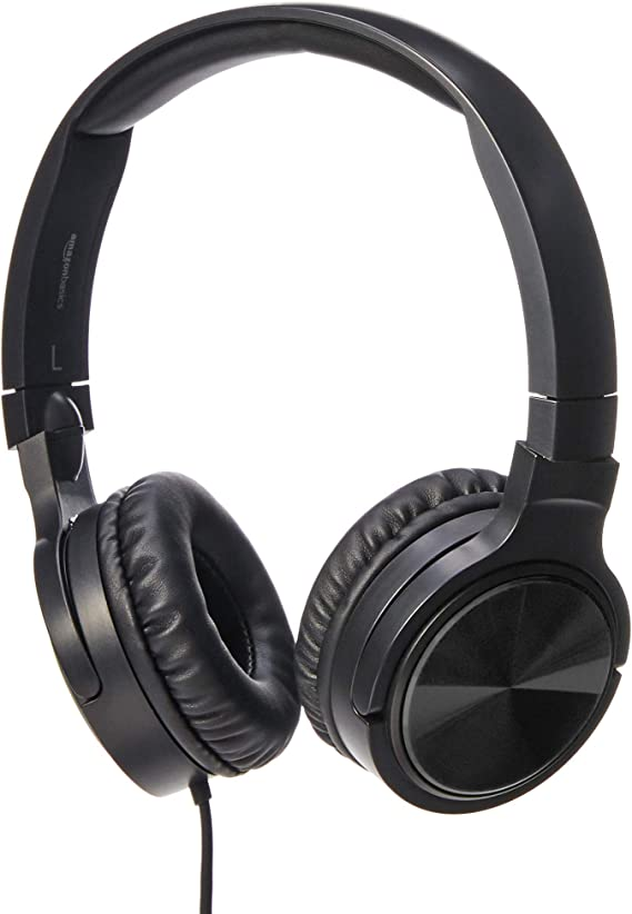 AmazonBasics Lightweight On-Ear Wired Headphones