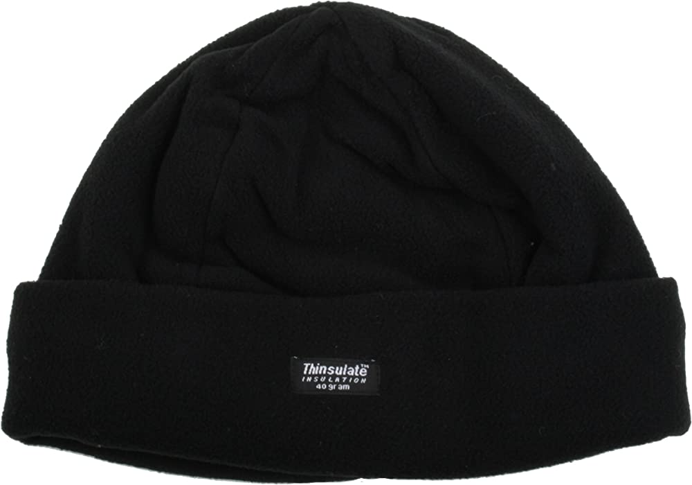d1ccde08bd7dc Mens Black Polar Fleece Hat One Size GL229  Amazon.co.uk  Clothing