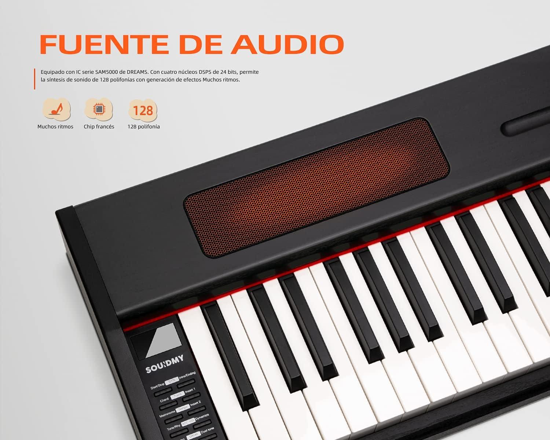 Souidmy G-110W Piano digital para principiantes, teclado semi-pesado de tamaño completo con 88 teclas, teclado portátil con bolsa para guardarlo - ...