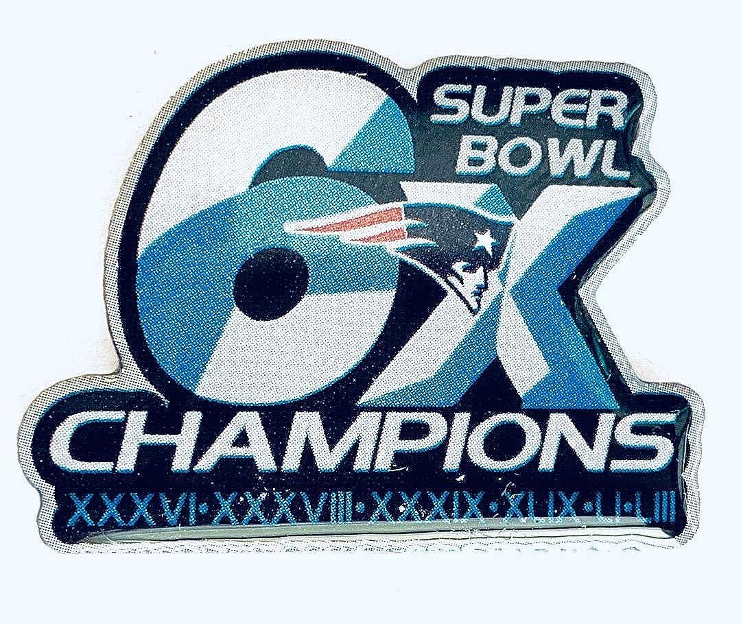 Football 2019 Super Bowl 53 LIII Patriots 6X Champions Patch