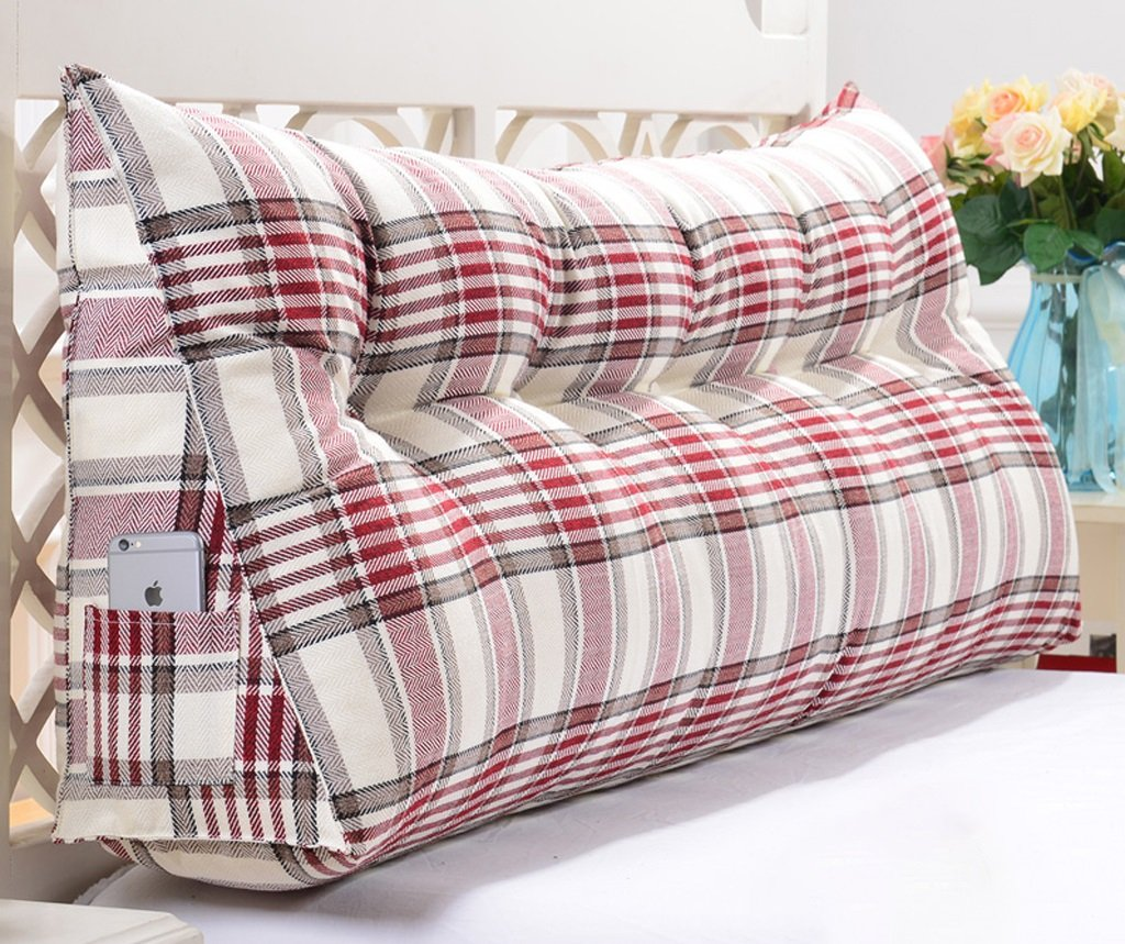 Linen Triangle Cushion Stripe Soft Package Bed Back Pad Size Diverse Optional ( Color : B , Size : 20050cm ) by GFL (Image #1)