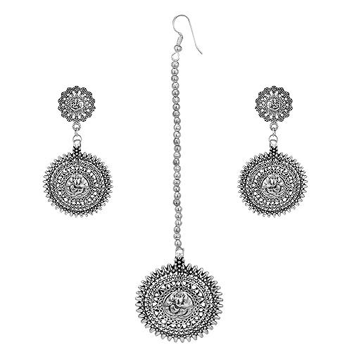 Women S Indian Tikka Headpiece Silver White Furniturerescue Ca