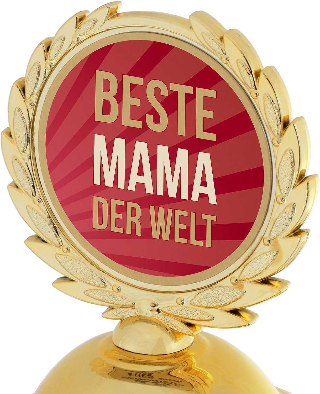 Pokal Bester Bruder der Welt 31 cm hoch PVC Metall Steinsockel