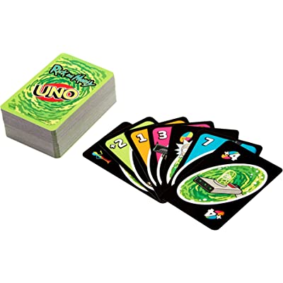 Mattel Games UNO: Rick and Morty - Juego de cartas, multicolor (GPN29)