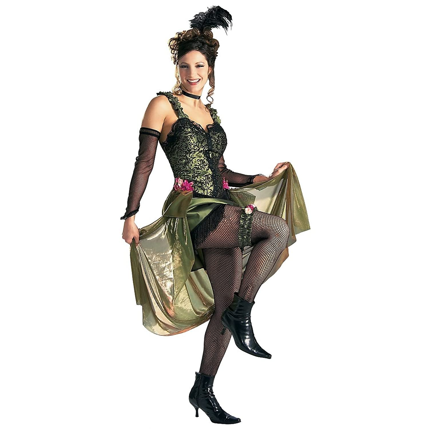 Victorian Costumes: Dresses, Saloon Girls, Southern Belle, Witch Grand Heritage Saloon Girl Adult Costume Green Black - Medium $108.37 AT vintagedancer.com
