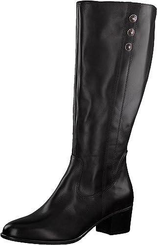 Tamaris Damen Stiefel 25557 21,Frauen Boots,Lederstiefel,Reißverschluss,Blockabsatz 4.5cm