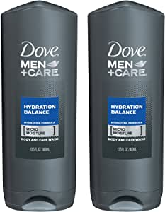Dove Men + Care Body & Face Wash - Hydration Balance - Net Wt. 13.5 FL OZ (400 mL) Each - Pack of 2