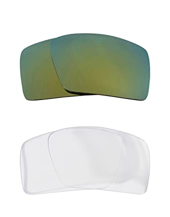 7d63792e4f Eyepatch 1 Replacement Lenses Crystal Clear   Green by SEEK fits OAKLEY