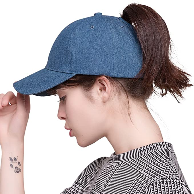 0180399d7 Image Unavailable. Image not available for. Color: FURTALK Womens Messy  High Bun Mesh Baseball Cap Ponytail Hat Adjustable Cotton ...