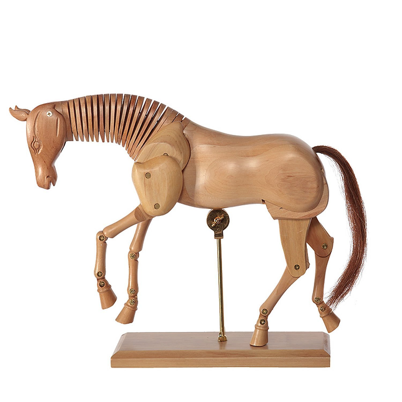 Figura para dibujo 30 cm modelo de dibujo Caballo madera