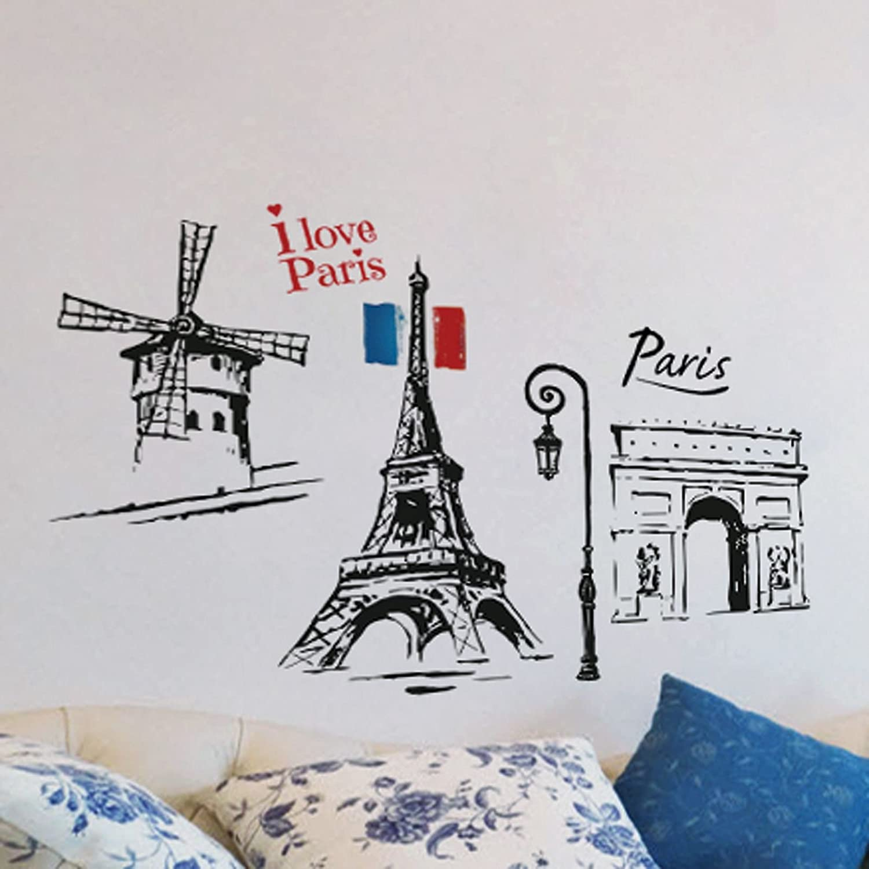 paris wall sticker amazon co uk kitchen home