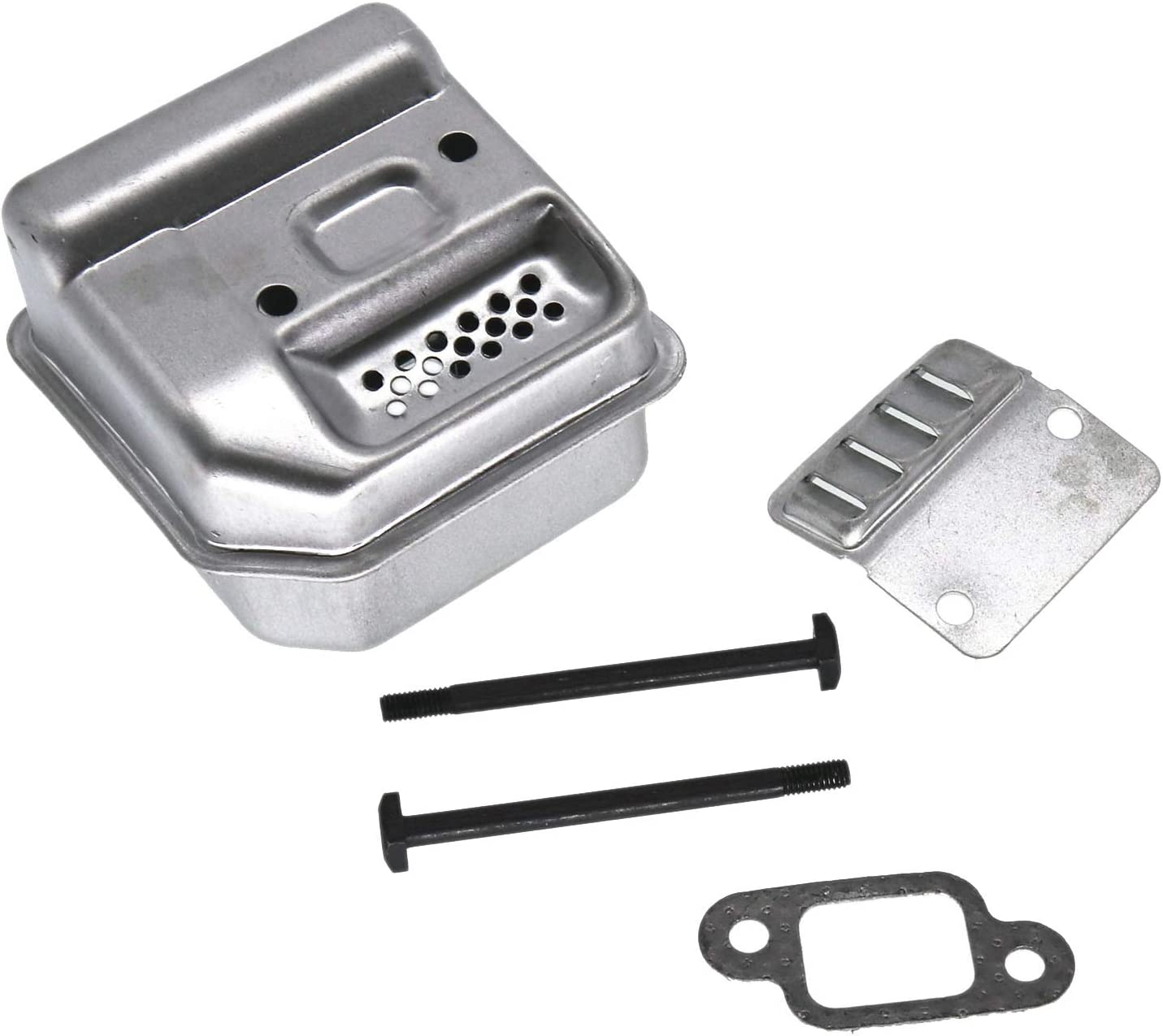 Muffler Exhaust /& Gasket /& Bolts For STIHL 017 018 MS180 Chainsaw High Quality