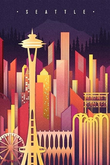Seattle Skyline Poster 24x36