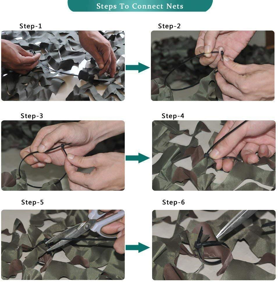 Shyonda Woodland Filets de Camouflage Camo Cover Net pour Camping Chasse Tournage