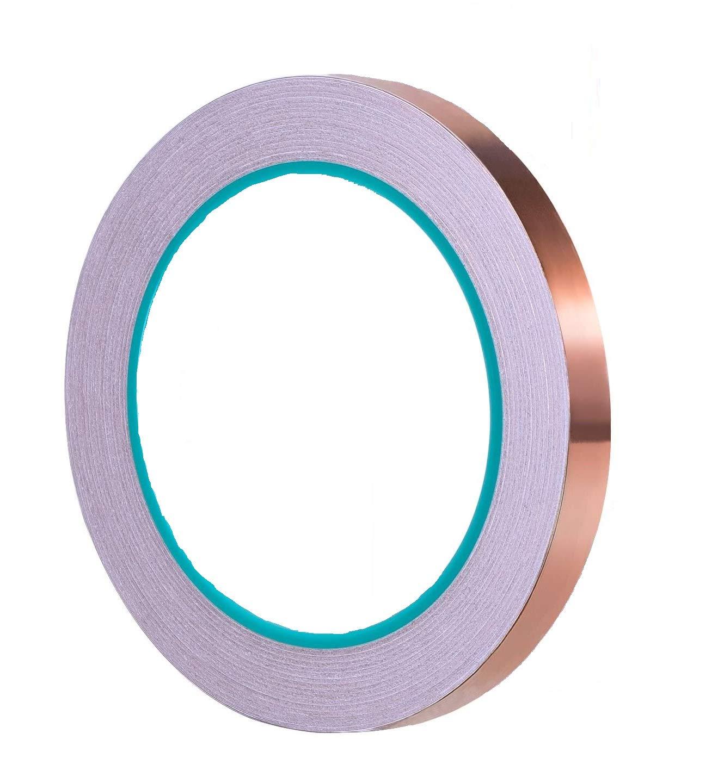 Copper Foil Tape, Double-Side Conductive Adhesive for Plants protection, Slug Snail Repellent, Guitar EMI Shielding…