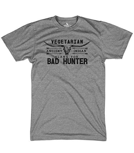 eadf5e14e5e69 Amazon.com: Bad hunter shirt funny vegetarian shirt funny tshirts ...