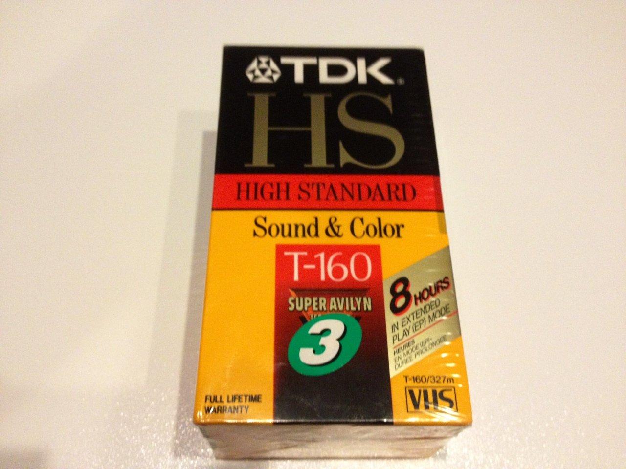 TDK HS T-160 High Standard Sound & Color VHS Video Cassette Tapes - Pack of 3