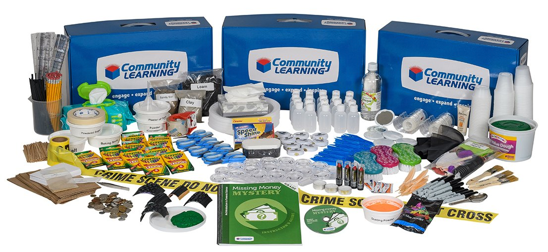 The Missing Money Mystery Forensic Science Super Summer Science Camp Kit by Community Learning (Image #1)