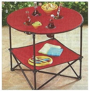 Trenton Gifts Mesa de picnic plegable portátil, impermeable, ideal para acampada y uso al