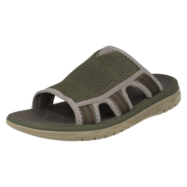 Olive (Grün) Clarks Freizeit Herren Unwilmore Sun Leder Sandalen In Braun