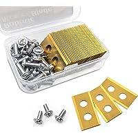 30 Piezas Cuchillas de Repuesto Titanio, Cuchillas de repuesto para robot cortacésped, con 30 Tornillos, 0.82 mm…
