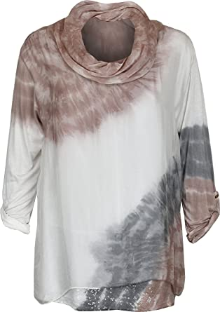 08bb139c811 Sonia Fashions Ladies Womens Italian Blouse Tops Cowl Neck Silk Front One  Size Fit for Size 12 to 18 (One Size