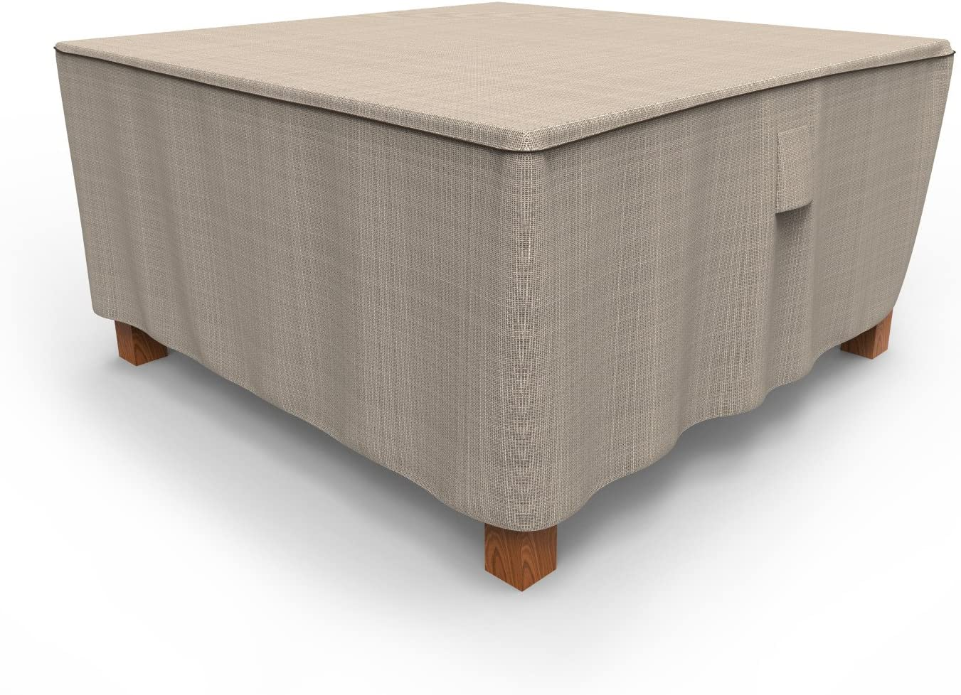 Budge P5A25PM1 English Garden Square Patio Table Cover Heavy Duty and Waterproof, Large, Two-Tone Tan