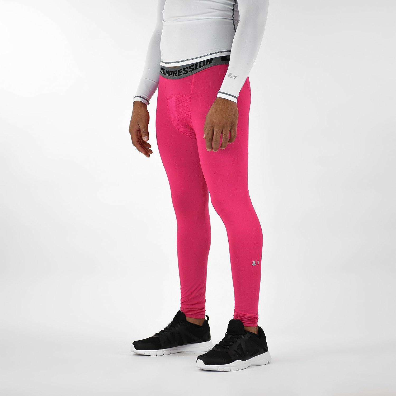 Sleefs BCAピンクリボン色相ピンクソリッド圧縮タイツ/レギンス B06VWLCZ4T Large|ピンク ピンク Large
