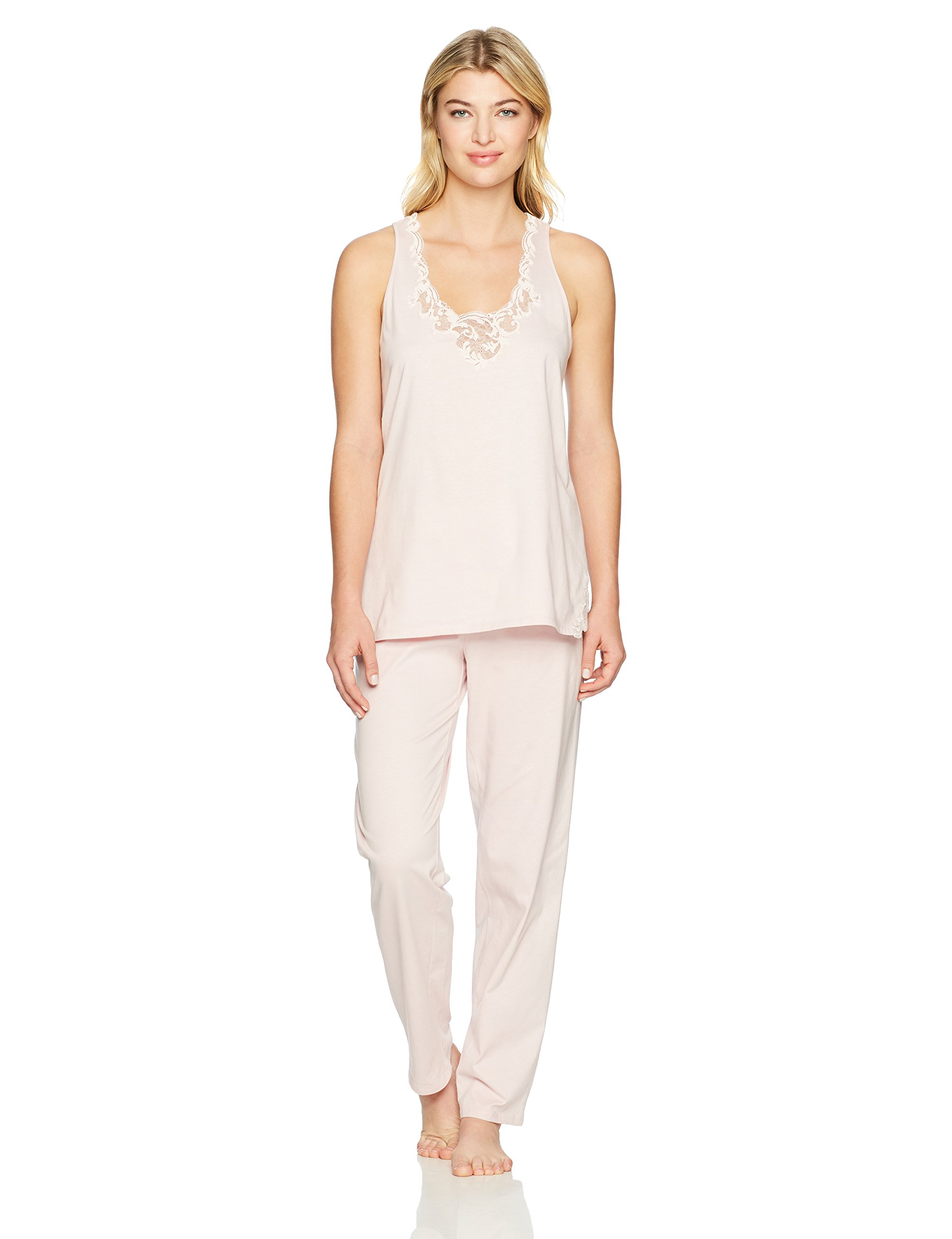 Natori Women's Bliss Cotton with Lace Pj, Dusty Rose, Medium by Natori (Image #1)