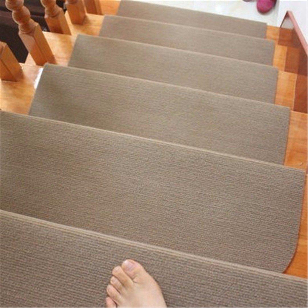 Tapis Marchettes d'escalier Antidérapant Rectangulaire Interieur Dessin (Beige)