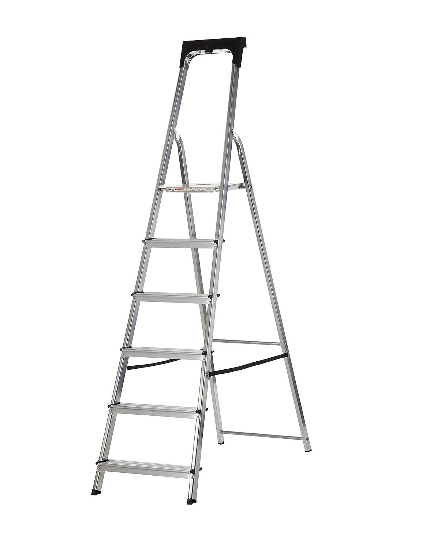 Werner 74104 4 Tread High Handrail Stepladder with Tool Tray, Aluminium WernerCo