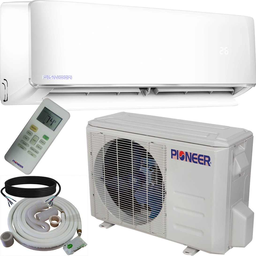 Pioneer WYS012-17 Air Conditioner Inverter+ Ductless Wall Mount Mini Split System Air Conditioner & Heat Pump Full Set, 12000 BTU 115V by PIONEER Air Conditioner