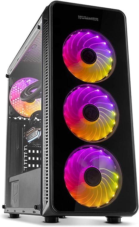 Nox Hummer TGM - NXHUMMERTGM - Caja PC, ATX, ARGB, Color Negro ...