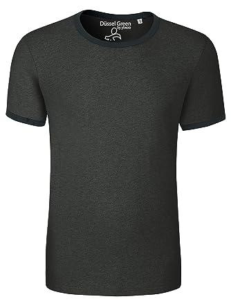 16a80c267b76 YTWOO Herren T-Shirt Aus 100% Bio-Baumwolle mit Rundhalsausschnitt. Kurzarm  Shirt