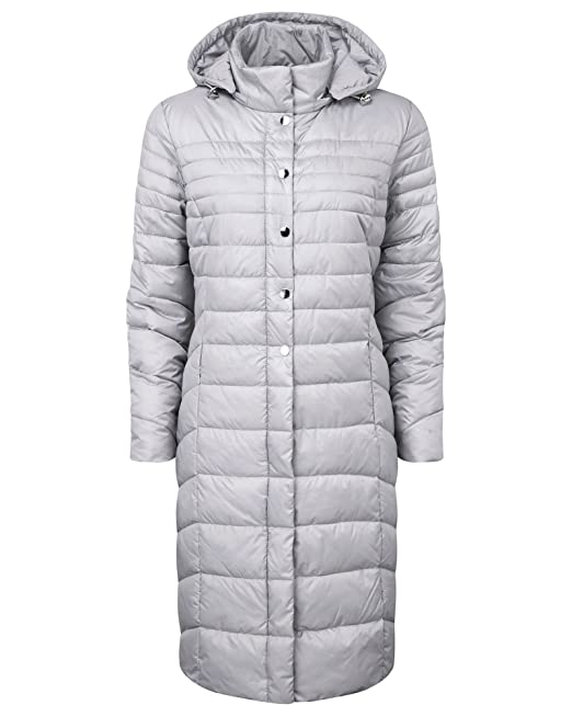 Size 18 20 New Ladies Quilted Padded Zip Popper Jacket Women/'s Coat White