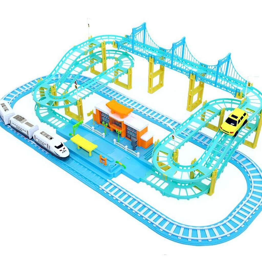 Städtische Triebwagen Spielzeug, Macarons Zug Set, 3-12 Jahre alte Kinder Elektroauto Boy Lernspielzeug