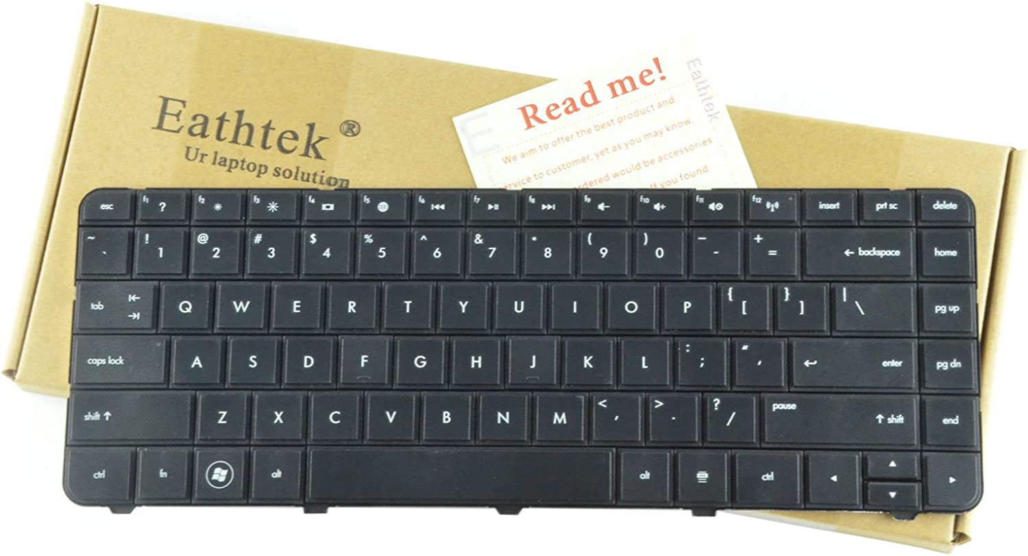 Eathtek Replacement Keyboard for HP Home 2000-100 2000-200 2000-2b09CA 2000-2b09WM 2000-2b10CA 2000-2b10NR 2000-2b11CA 2000-2b16NR 2000-2b80DX 2000-2b89WM series Black US Layout