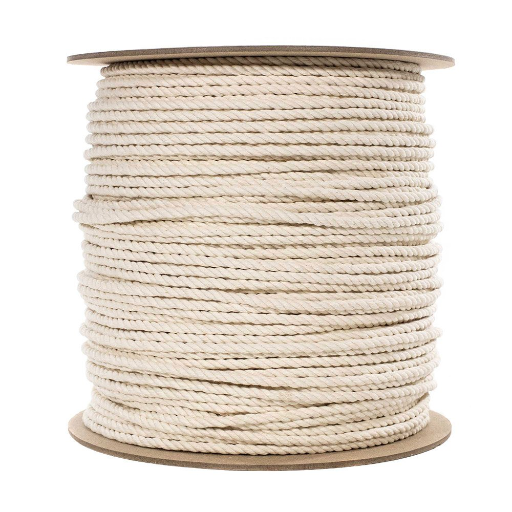 Multiple Lengths to Choose PARACORD PLANET 100/% Twisted White Natural Cotton Rope 1//2 inch Diameter