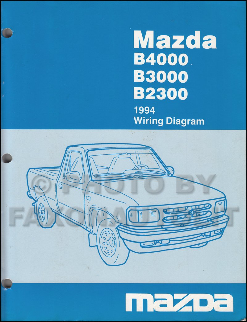 1994 Mazda B4000 B3000 B2300 Pickup Truck Wiring Diagram Manual Original:  Mazda: Amazon.com: Books