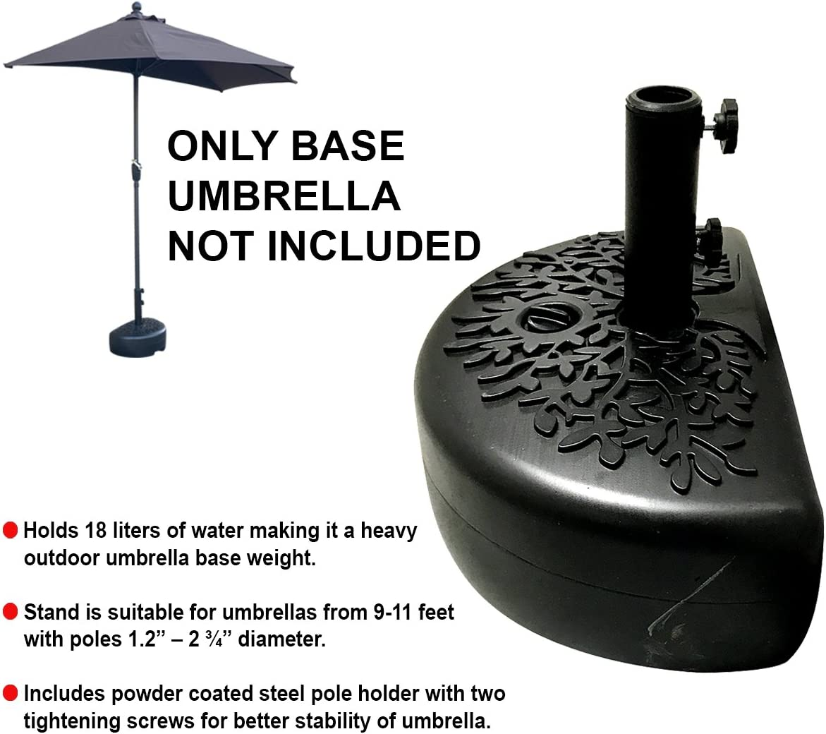 EasyGo Half Umbrella Base Weight Water Weighted Universal Stand