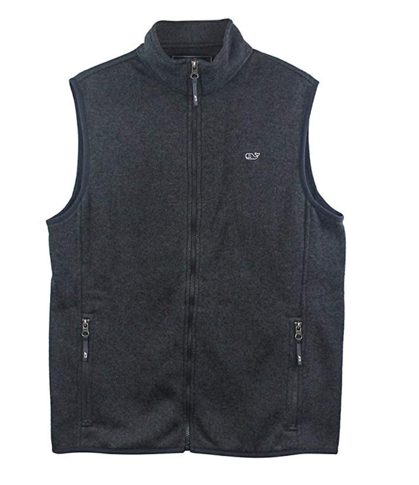 Vineyard Vines Men's Graphite SweaterFle Vest (Large) by Vineyard Vines