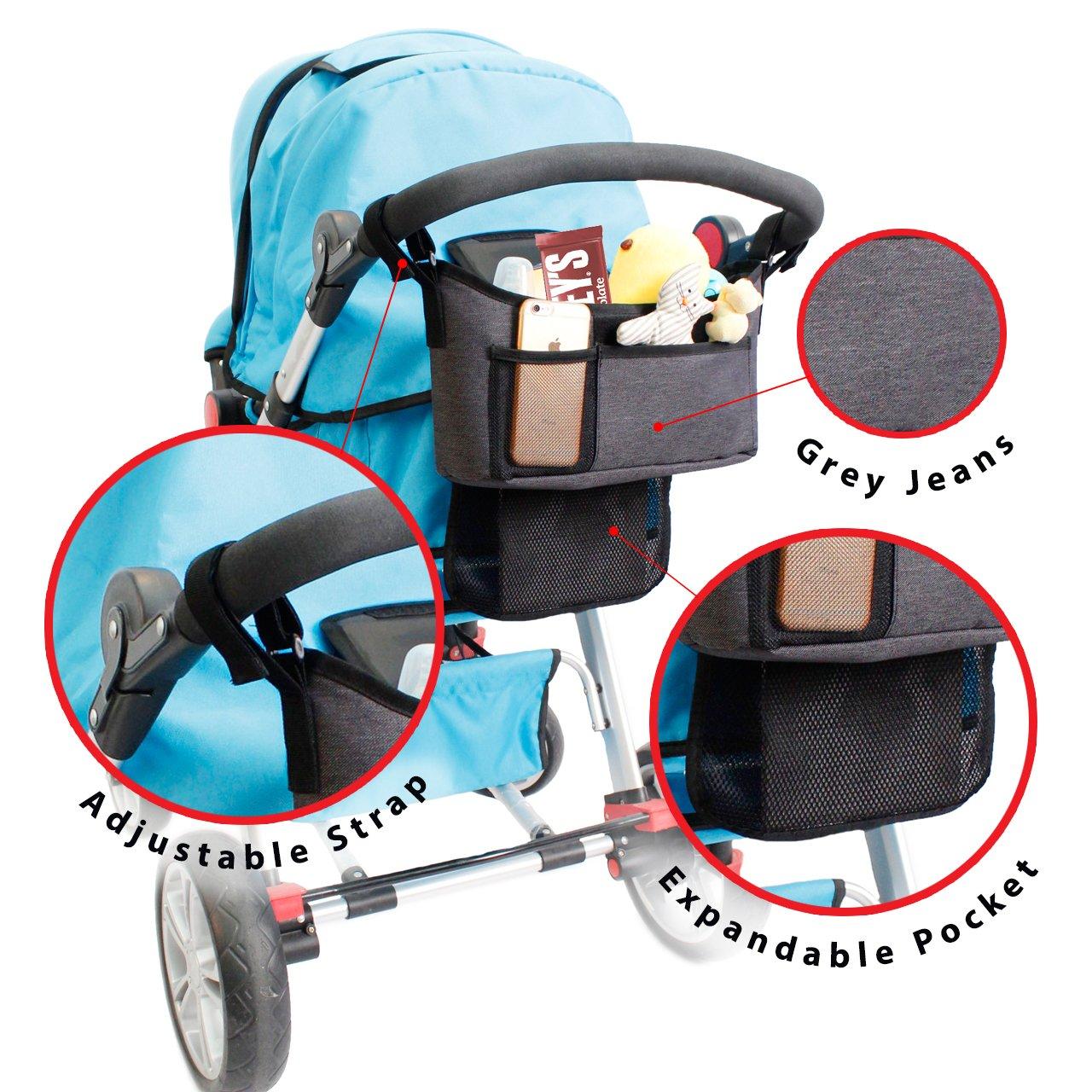Amazon.com : Stroller Organizer - Universal fit with Adjustable ...