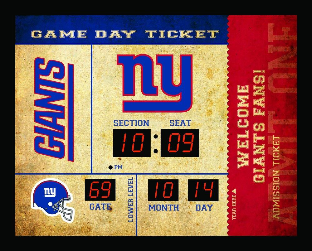 Team Sports America New York Giants Bluetooth Scoreboard Wall Clock by Team Sports America
